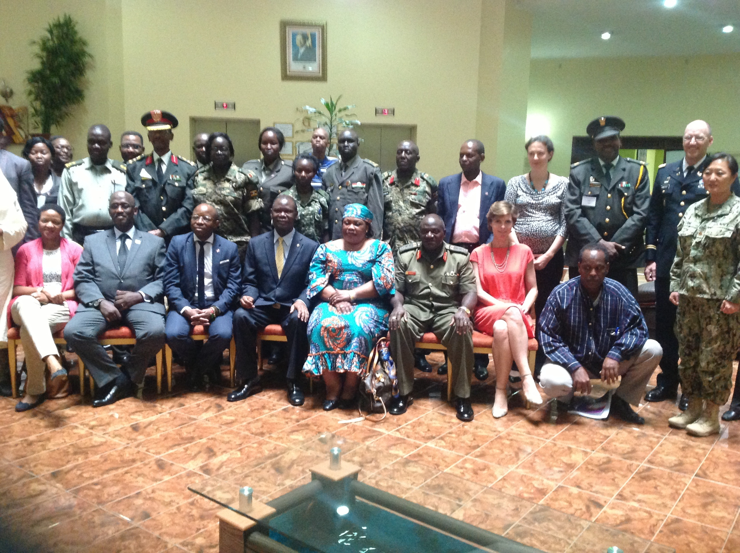 Members of the military justice system attend training at the International Conference on the Great Lakes Region Regional Training Facility In Kampala, Uganda, Aug. 10-12, 2015.  The training addressed sexual violence within the military justice system, including collecting evidence and procedures for bringing cases to trial in the military. (Courtesy photo)