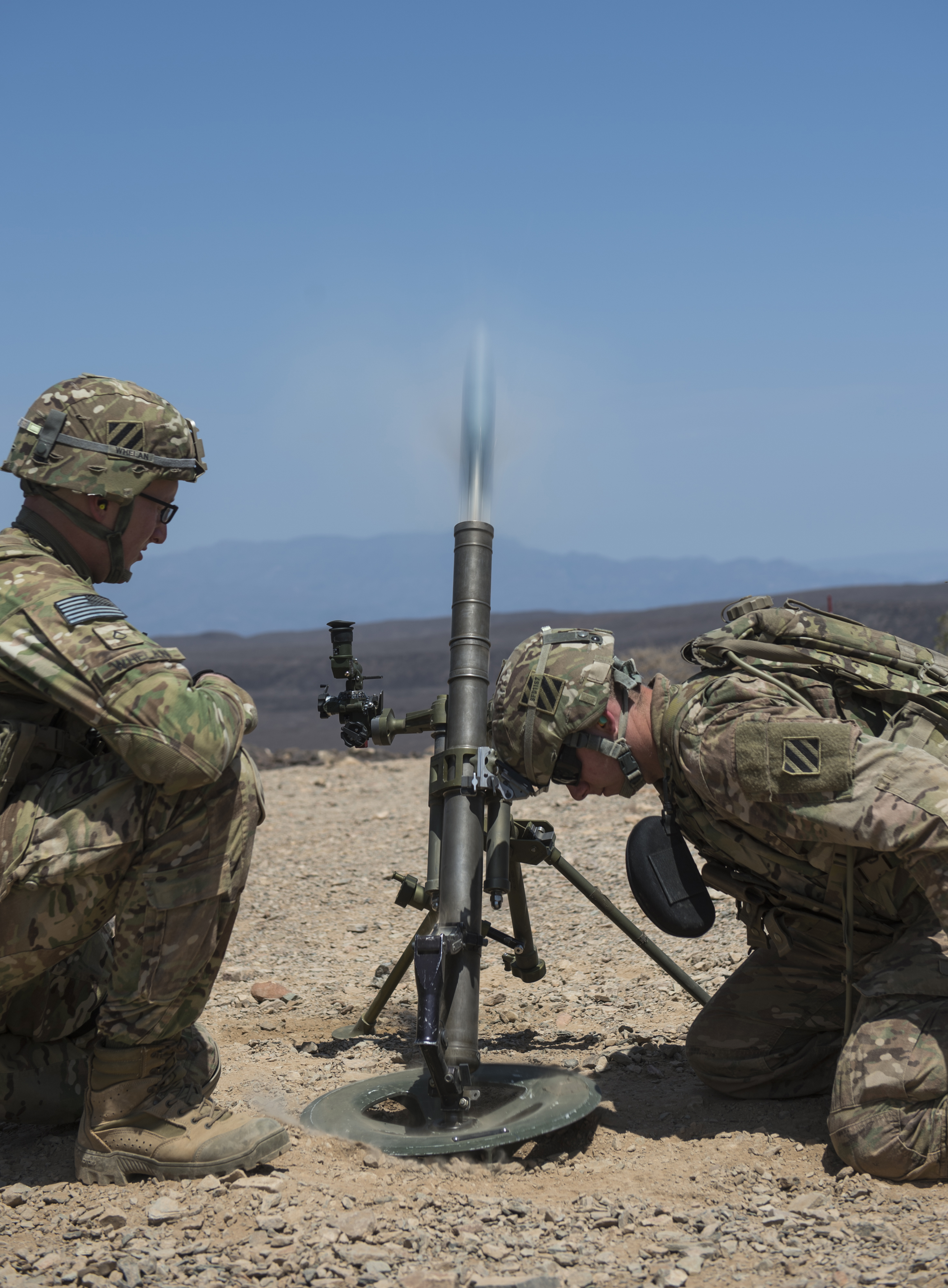 EARF team weapons and mortar training | Combined Joint Task Force