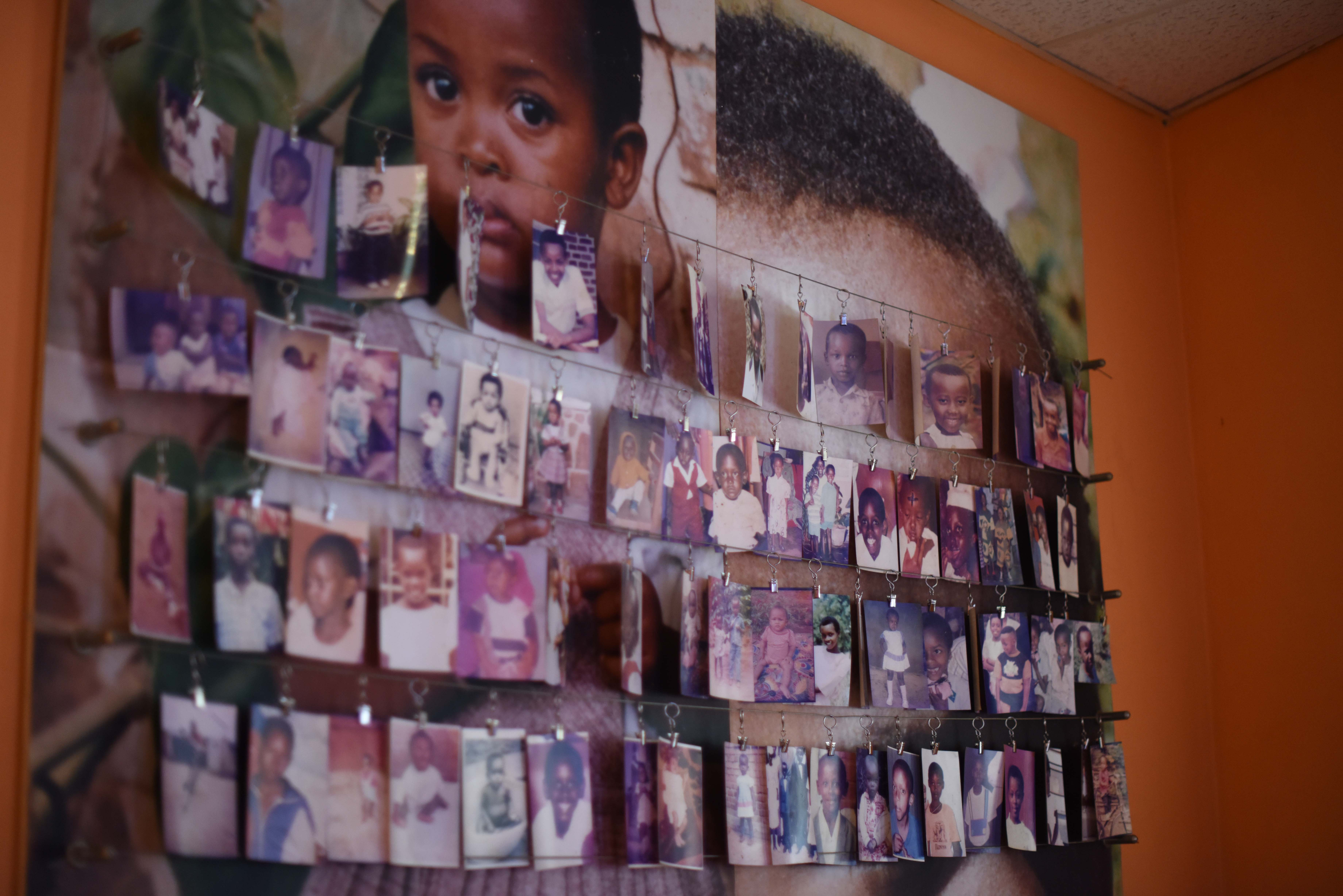 "Photos of children hang in the Genocide Memorial Museum in Kigali, Rwanda, Dec. 16, 2015. A portion of the museum named ""futures lost"" is dedicated to children killed in the 1994 genocide of Tutsi tribe members. Infants and young children who have been identified are highlighted in this portion of the exhibit. It is still unknown how many children were lost in the genocide. (U.S. Air Force photo by Staff Sgt. Victoria Sneed)"
