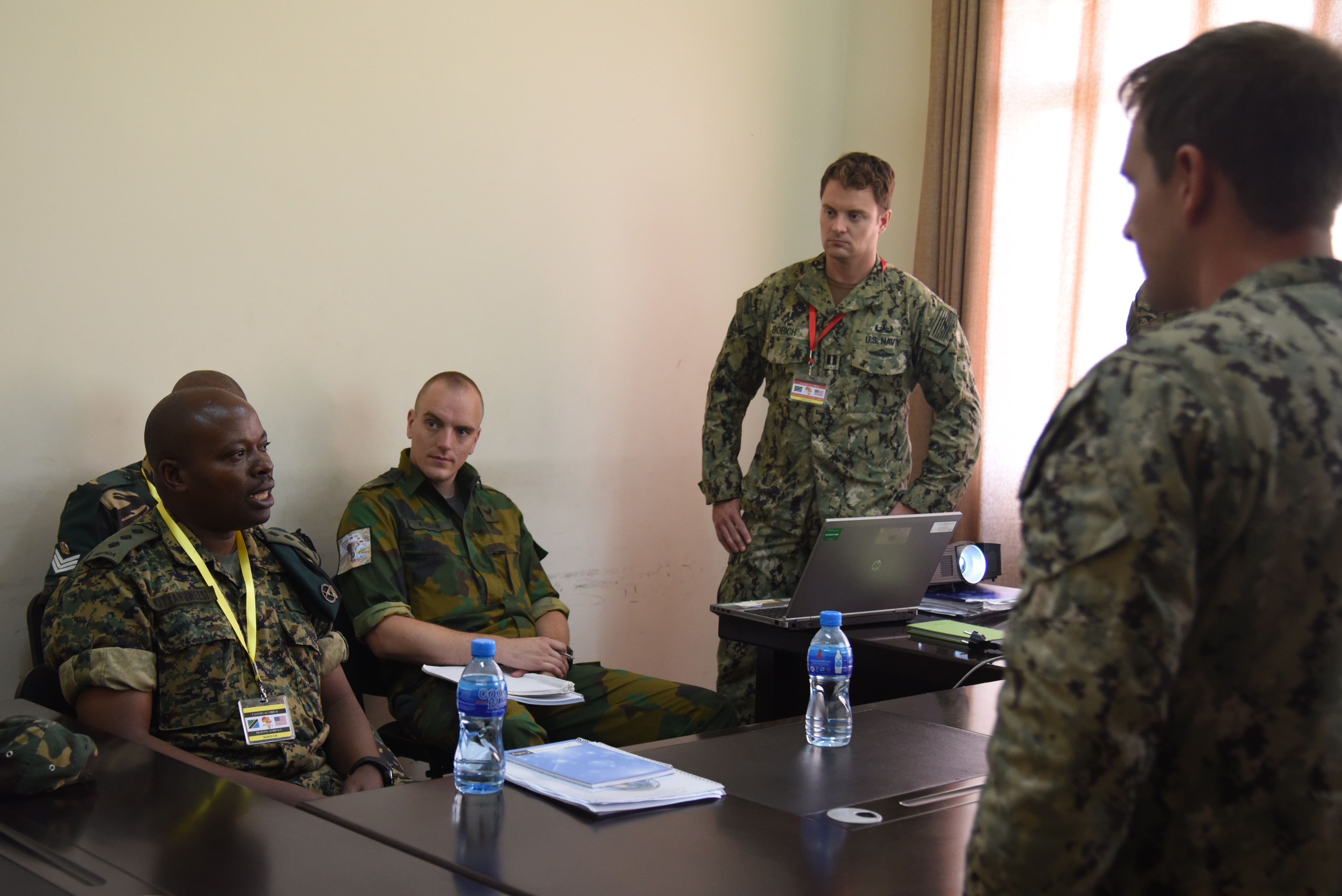DAR ES SALAAM, Tanzania – Eastern Accord 2016 participants attend a counter-improvised explosive device course on July 14, 2016, to effectively learn how to combat IEDs at the operational level during academics training at the Tanzanian Peacekeeping Training Centre in Dar es Salaam, Tanzania. EA16 is an annual, combined, joint military exercise that brings together partner nations to practice and demonstrate proficiency in conducting peacekeeping operations. (U.S. Air Force photo by Staff Sgt. Tiffany DeNault)
