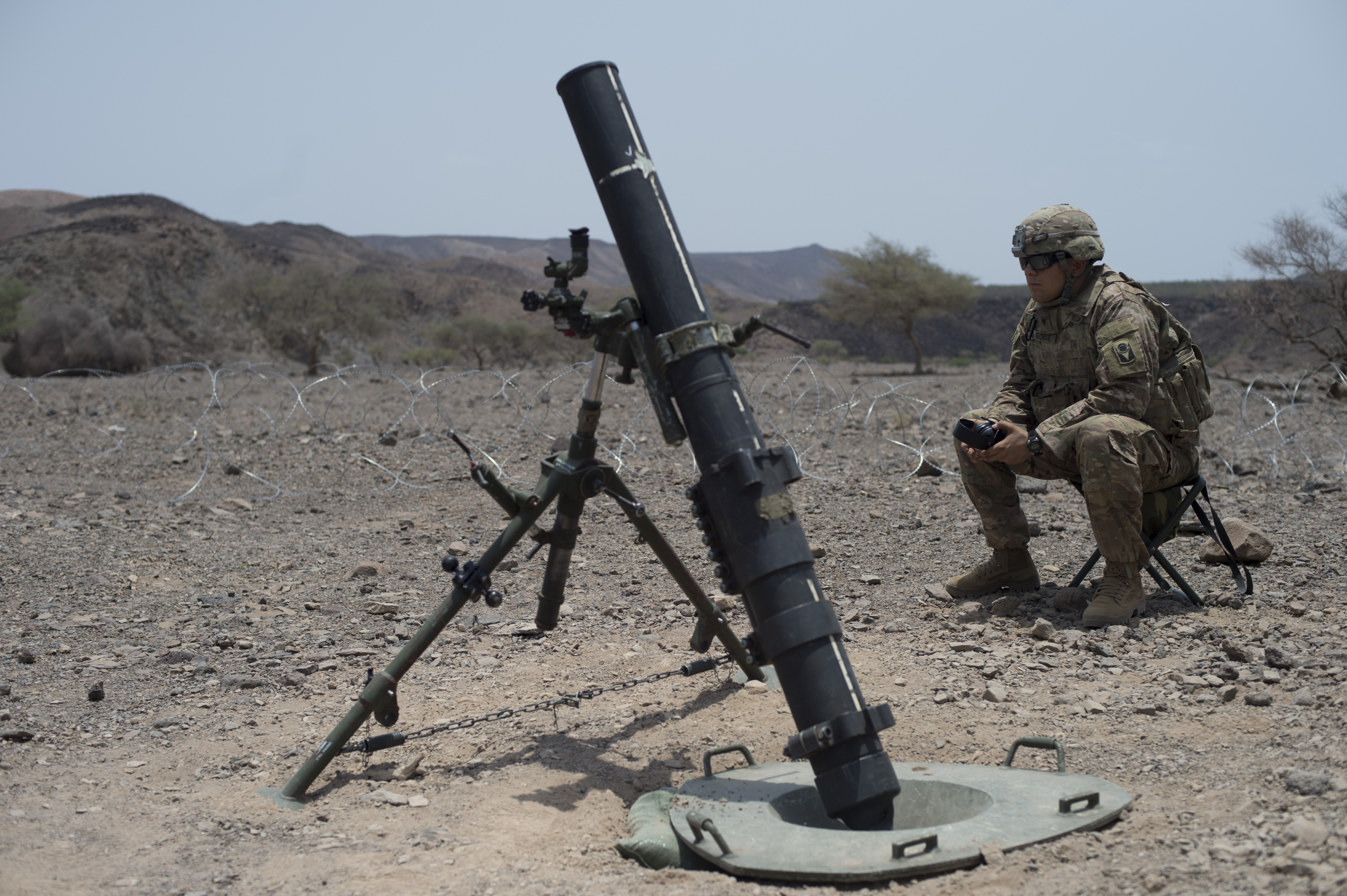 81mm Mortar System : U s army brings the boom soldiers conduct mortar fire