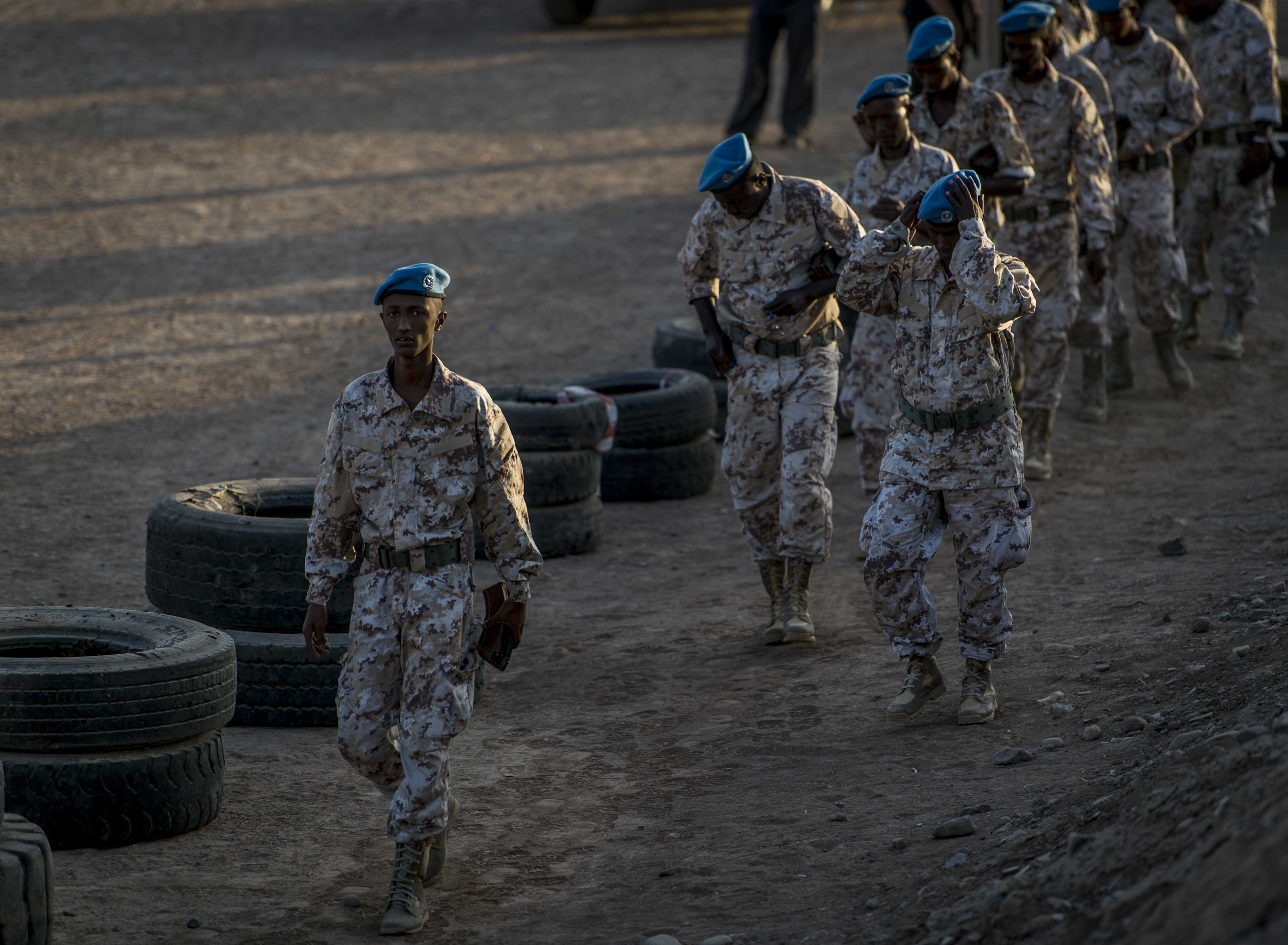 Members of the Carabinieri and Somalia Police Force, train at a shooting range in Djibouti, Djibouti, Oct. 30, 2016. The Carabinieri is in charge of training mission MAIDIT Somalia 6, which is the mission of training the Somali Police Force in order to promote the stability and security of the entire region of the Horn of Africa. (U.S. Air Force photo by Staff Sgt. Kenneth W. Norman)