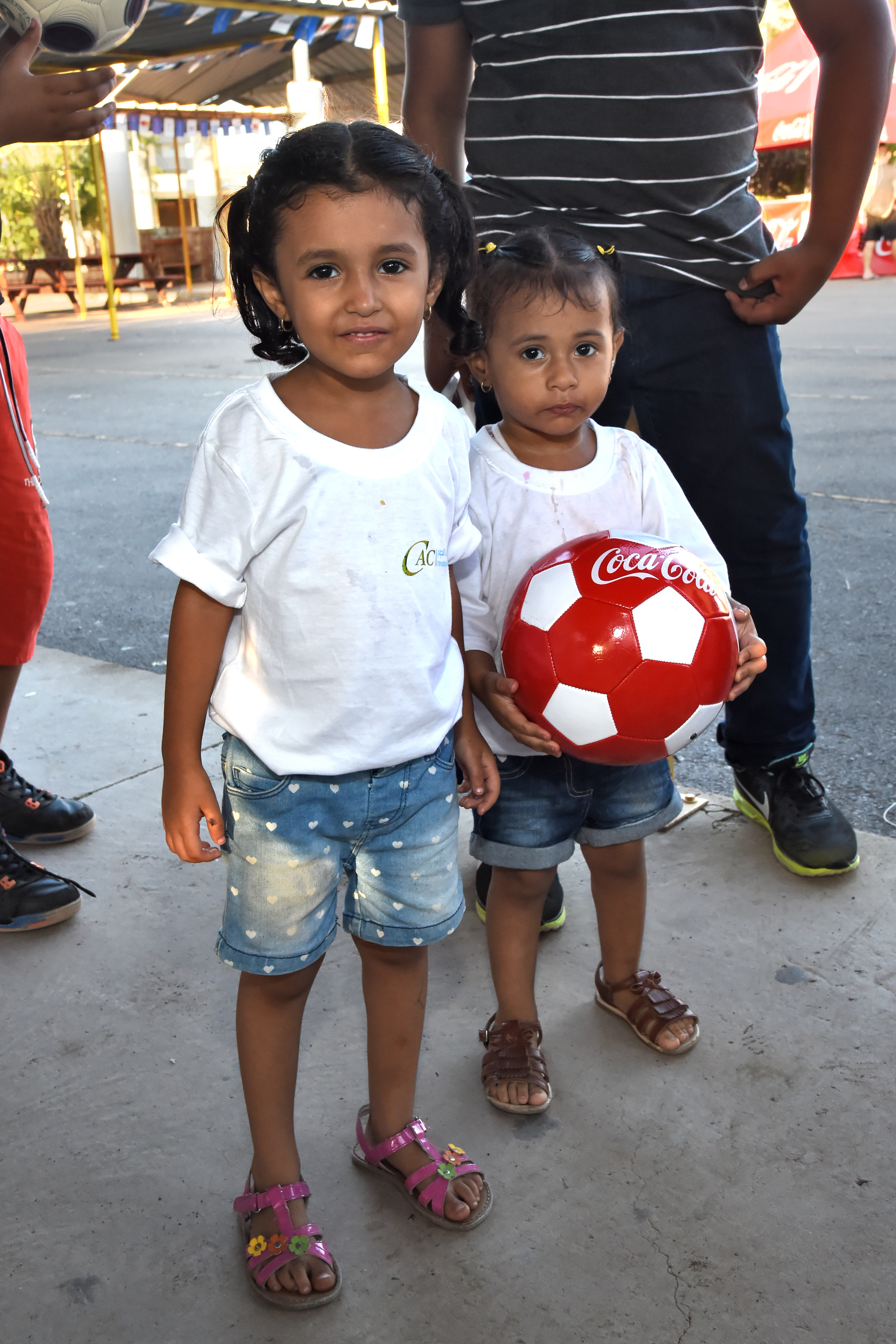 Children attending a soccer tournament at the French school Kessel in downtown Djibouti Dec. 9, 2016 are presented soccer balls on behalf of the Kick for Nick Foundation. The non-profit foundation was established in 2006 by the family of Pfc. Nicholas Madaras, an avid soccer player and youth coach who was killed while serving in Iraq. (U.S. Air National Guard photo by Master Sgt. Paul Gorman)