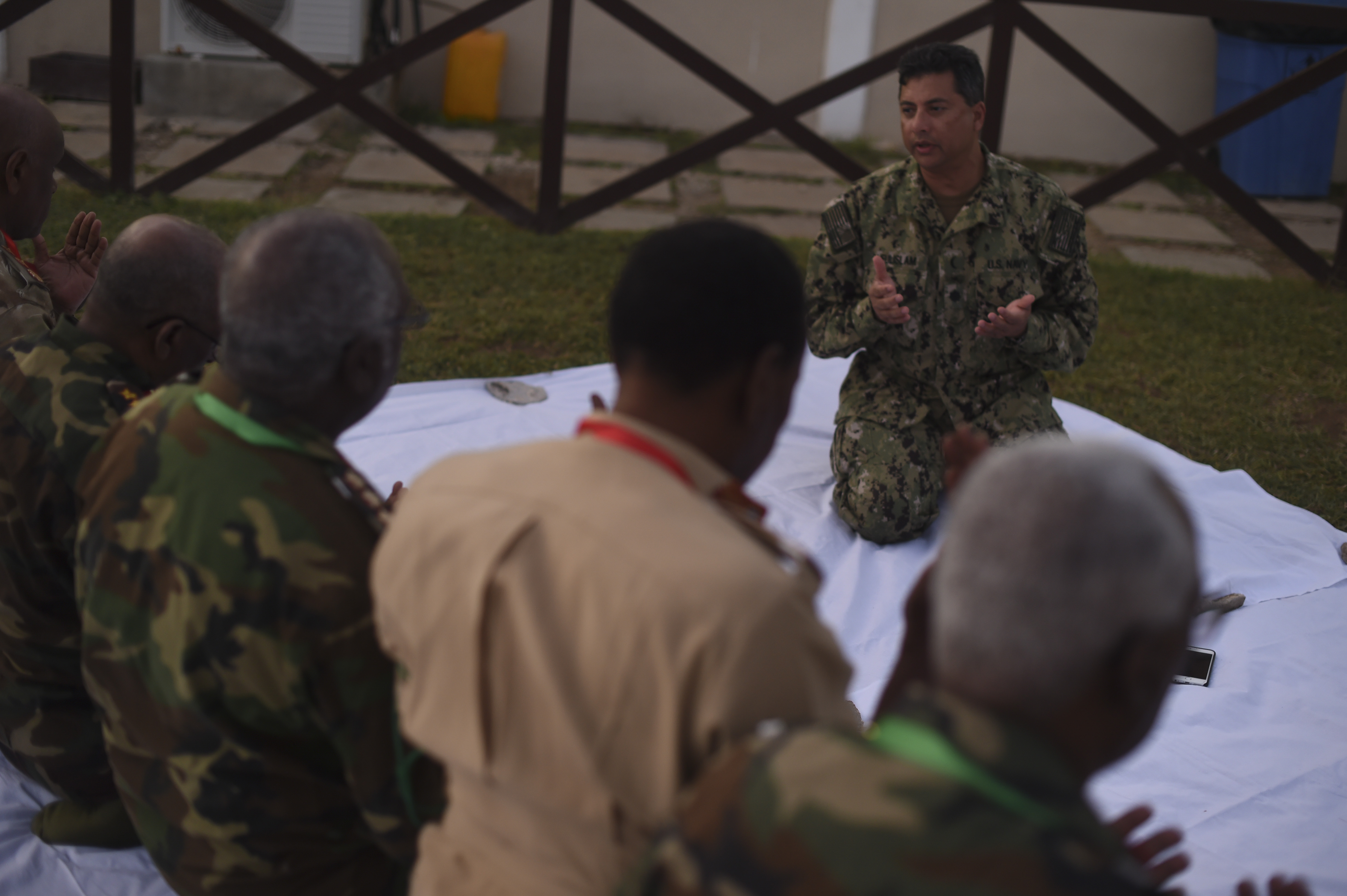 AFRICOM Imam leads first Iftar with U S , SNA leaders