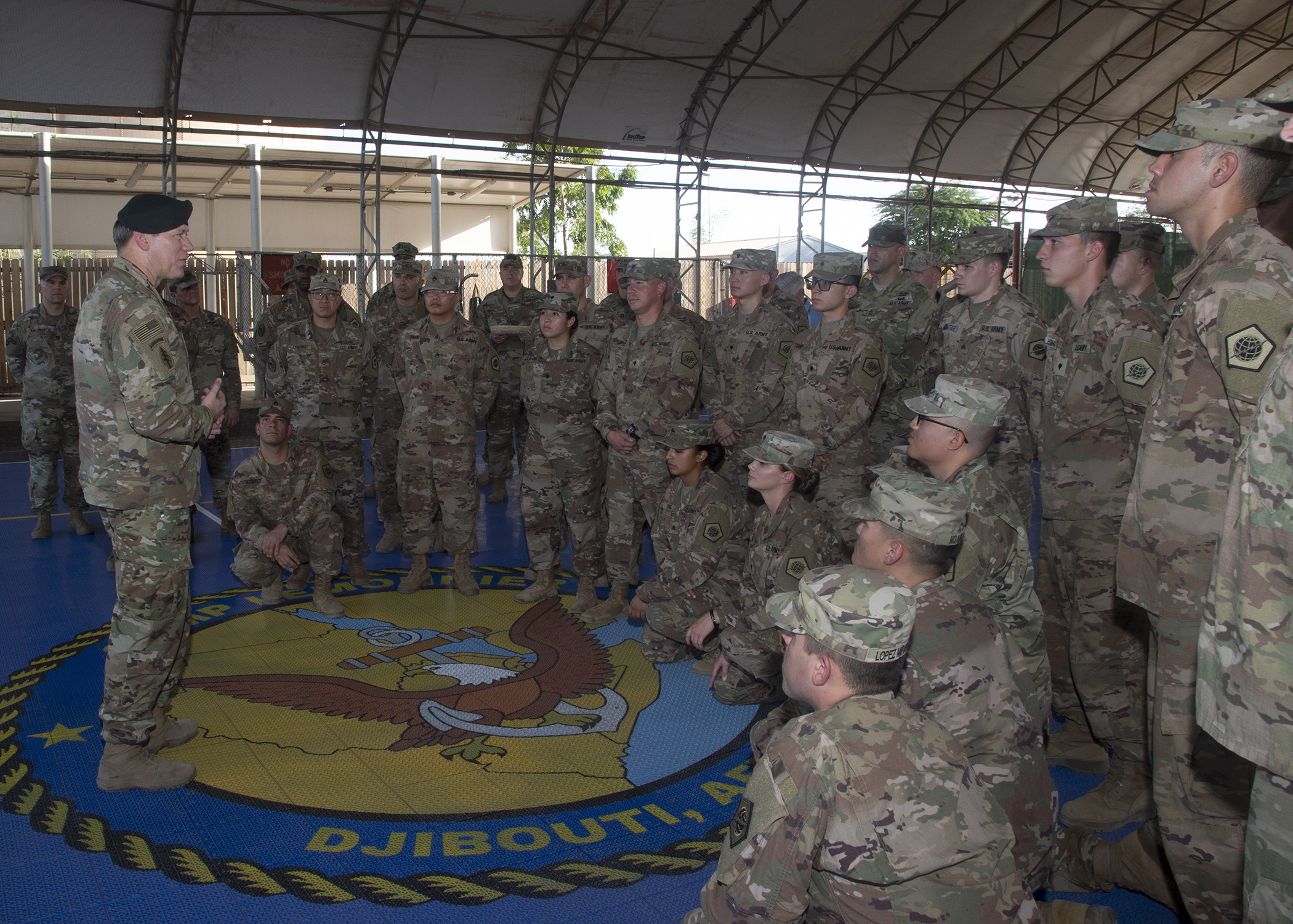 U S  Army combat patch ceremony   Combined Joint Task Force